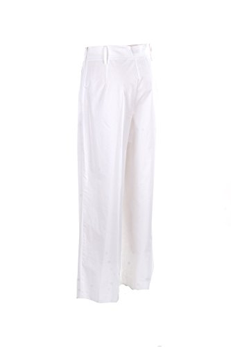 Pantalone Donna Think Believe 40 Bianco P17tb17680 Primavera Estate 2017