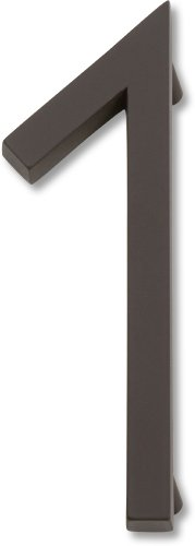 Oil Rubbed Bronze House Numbers - Atlas Homewares AVN1-O Modern Avalon 4.5-Inch No. 1 House Number, Aged Bronze