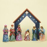 Jim Shore for Enesco 7-Piece Heartwood Creek Nativity Set Figurine, Mini
