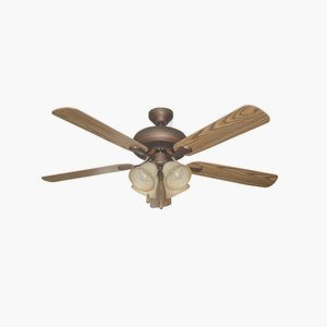 Ellington Fans Pd52abz5c4 Piedmont   52  Dual Mount Ceiling Fan  Aged Bronze Finish With Mahogany Dark Oak Blade Finish With Tea Stain Glass