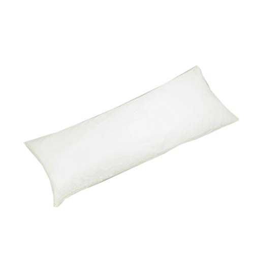 YAROO Body Pillow Cover 21x54 Inch,Body Pillowcase,400 Thread Count,100% Egyptian Cotton,Envelope Closure,Solid,Ivory(Natural Undyed White).