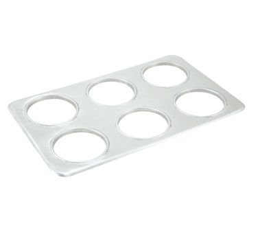 Winco ADP-444 Stainless Steel Adapter Plate With (6) 4-3/4