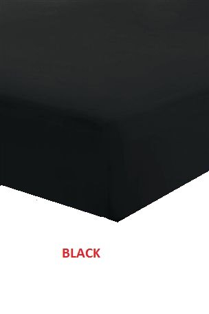 RAYYAN LINENu0027S 100% EGYPTIAN COTTON BLACK 200TC 4 FEET SMALL DOUBLE EXTRA  DEEP FITTED BED