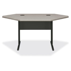 Hon 66000 Stationmaster Series Desk (Hon Corner Desk, 66 by 36 by 29-1/2-Inch, Patterned Gray/Charcoal)