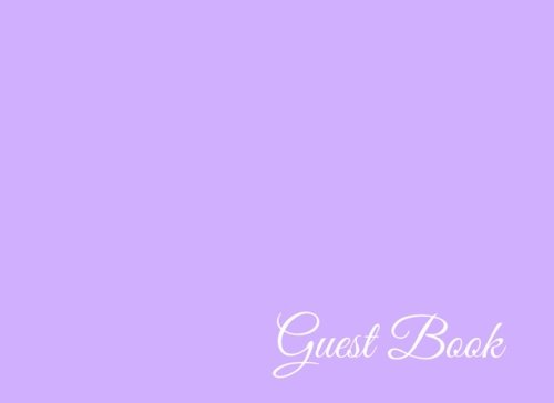 Guest Book: 104 Pages - Paperback (8.25 x 6 Inches) (Volume 87) PDF