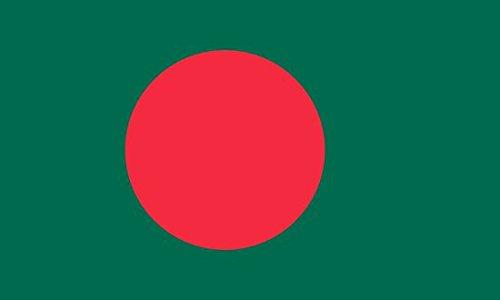 Bangladesh Flag 5ft x 3ft Large - 100% Polyester - Metal Eyelets - Double Stitched