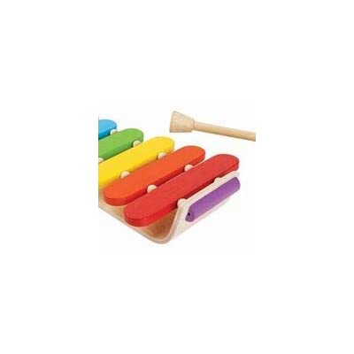 PlanToys Wooden Musical Xylophone Percussion Toy Instrument (6405) | Sustainably Made from Rubberwood and Non-Toxic Paints and Dyes: Toys & Games
