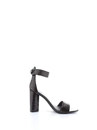 Donna Sandali Guess Abha Black Tacco Con Liscia Pelle q6w5wUI