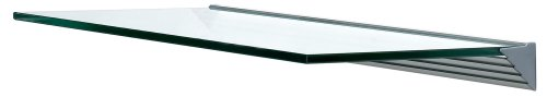 "Wallscapes GL6030CLKIT Glacier 12"" x 24"" x 3/8"", Clear Glass Shelf Kit"