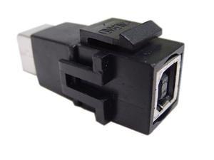 Calrad USB Keystone Inserts Type B Feed Thru ()