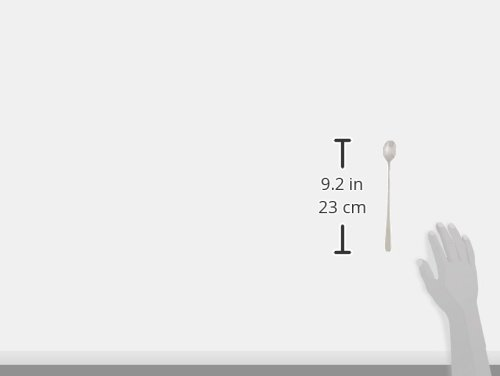 Bruntmor Bistro Long 18/10 Steel Handle Ice Cream Spoon (Set of 4), Stainless Steel by Bruntmor (Image #1)