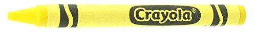 50 Yellow Crayons Bulk - Single Color Crayon Refill - Regular Size 5/16 x 3-5/8