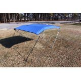 """Royal Blue Vortex 4 Bow Bimini Top 6' Long, 79-84"""" Wide, 54"""" High, Complete Kit, Frame, Canopy, and Hardware (FAST SHIPPING - 1 TO 4 BUSINESS DAY DELIVERY)"""