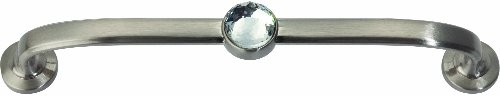 - Atlas Homewares 345-BRN Legacy Crystal Brushed Nickel 5.75-Inch Bracelet Pull