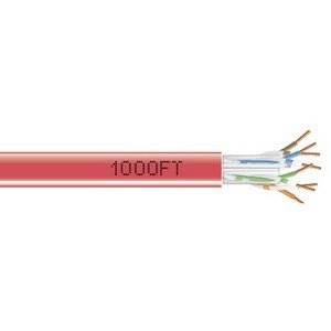 4Pair 1000Ft Cat6 Red Solid