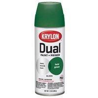 Krylon 8807 'Dual' Paint and Primer 12-Ounce Aerosol, Gloss Field Green by Krylon
