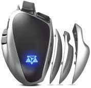 Mouse Gamer PC Adamantiun Weapon X ADX-500 1ms 1000hz Led RGB Software Macro Memória ajustes de pegadas 7 botõ