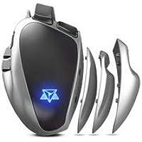 Mouse Gamer PC Adamantiun Weapon X ADX-500 1ms 1000hz Led RGB Software Macro Memória ajustes de pegadas 7 botões