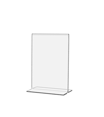 Marketing Holders Bottom Loading Table Sign Holder, Double-sided Clear Acrylic Frame 3.5 x 5 Inches (Pack of 6) by Marketing Holders