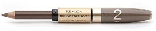 Revlon Brow Fantasy Pencil & Gel, Light Brown [108], 0.04 oz (Pack of 3)