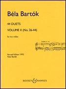 Bartók: 44 Violin Duets - Volume 2 (Nos. 26-44)