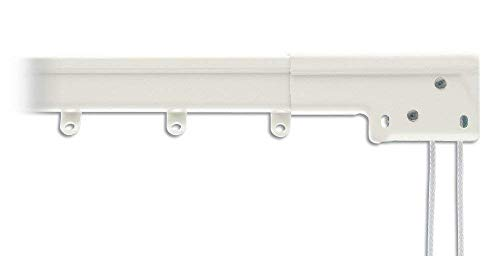 (Graber Super Heavy Duty Traverse Curtain Rod 48-84 Inch, White (Center Draw) )