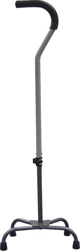 Drive Medical Large Base Quad Cane with Silver Vein Finish, 350 lb Wei