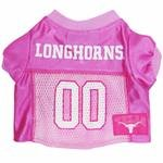 Mirage Pet Products Texas Longhorns Jersey for Dogs and Cats, X-Small, Pink