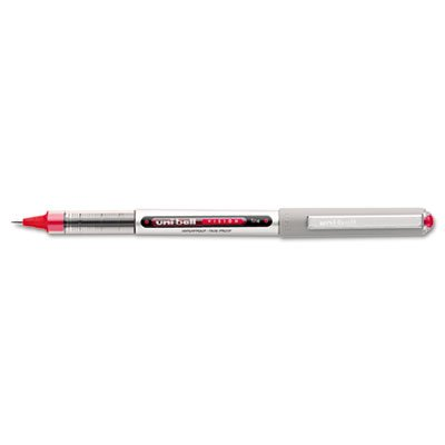 Nonrefillable Red Ink Pens - Vision Roller Ball Stick Waterproof Pen, Red Ink, Fine, Dozen, Total 72 DZ