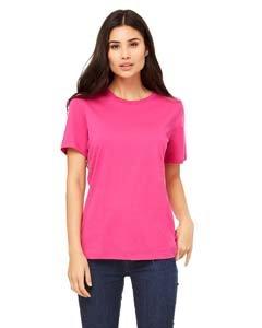 (Bella womens Missy's Relaxed Jersey Short-Sleeve T-Shirt(B6400)-BERRY-XL )