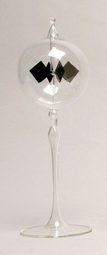 Home Decor Glass Solar Radiometer 3'' Diameter Clear Sphere on Clear Tapered Stem