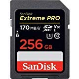 SanDisk 256GB Extreme PRO SDXC Memory Card, UHS-I Class 10 U3 V30, Up to 170MB/s Read