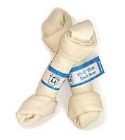 10 count 10″ – 11″ GoGo Pet White Rawhide Bones, My Pet Supplies