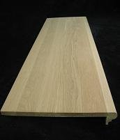 White Oak Stair Tread   48 In. X 11.5 X 5/8 In.