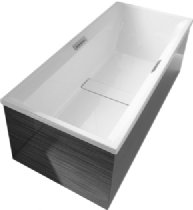 Duravit 2nd Floor Wall - Furniture panel 2nd floor #700081, back-to-wall White Acrylic