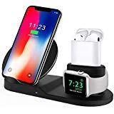 Wireless Charger, BESTBEING Compatible iPhone Charger, 3-in-1 Replacement Apple Charging Station for Apple Watch/AirPods/iPhone Xs/iPhone X Max/iPhone XR/iPhone X/iPhone8/iPhone8Plus