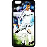 Sport Real Madrid Club de Futbol Cristiano Ronaldo Print Black Case With Hard Shell Cover for iPhone 6 Case (4.7inch) -JUST do it ,CR7 Classic style (Ipod 4 Cases Cr7)