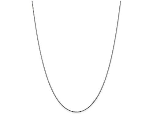 Finejewelers 20 Inch 14k White Gold 1.1mm Round Snake Chain Necklace