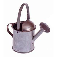 Package of 12 Mini Galvanized Tin Metal Watering Cans, used for sale  Delivered anywhere in USA