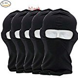 CxYuan 2018 5PCS new black Balaclava 1-Pack Face Mask Motorcycle Helmets Liner Ski Gear Neck Gaiter Ski Mask Accessories by (additional heat) – DiZiSports Store
