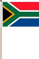 South Africa Large 12 X 18 Inch Country Stick Flag Banner on a 2 Foot Wooden Stick .. Great Quality Polyester ... New