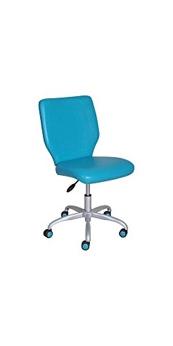 Armless Desk Chair, Great for College Dorms and Offices Teal