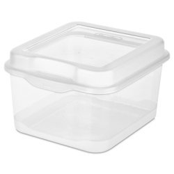 Sterilite 18038612 Small Clear Flip Top Storage -