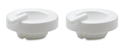 Ameda White Adapter Cap - Pair - Ameda Purely Yours Breast Pump Parts