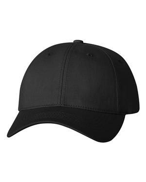 Sportsman Twill Cap With Velcro Closure, Black, Adjustable. 2260