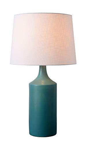 Kenroy Home 33159TEAL Crayon Table Lamp, Matte Teal Ceramic Finish ()
