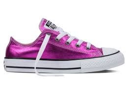 Converse Chuck Taylor All Star Métallique Nourrisson Magenta Brille Baskets Toile - Magenta, 12 UK Child