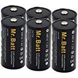Mr.Batt C Size Rechargeable Batteries NiMh C Cell 1.2V 5000mAh High Capacity (6 Pack)