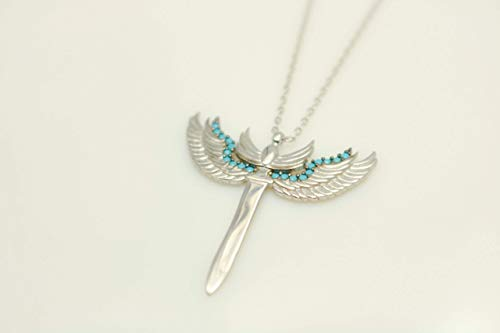 Archangel Michael's Sword Sterling Silver Pendant Necklace with 15.9'' Chain by Handmade Studio HS7301