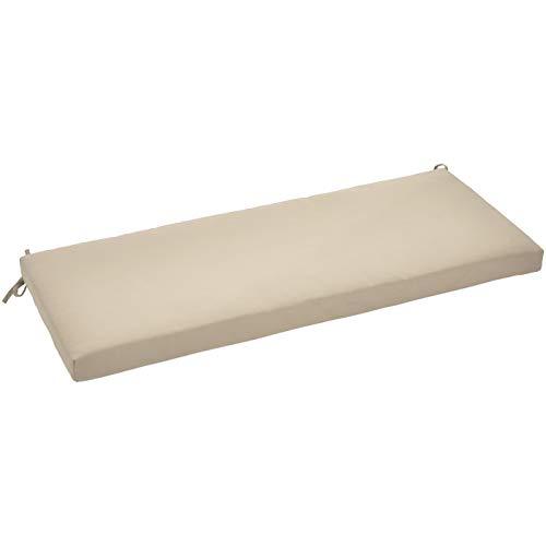AmazonBasics Bench Patio Cushion - Poly Batting - Tan (Pads Cushion Patio)